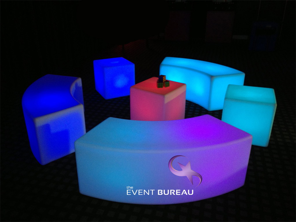 coloured chairs with logo